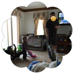 Vacuum buddies.  Start him early!