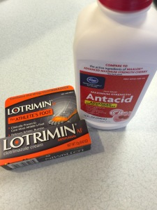 Lotrimin and Mylanta mixed with Aquaphor.