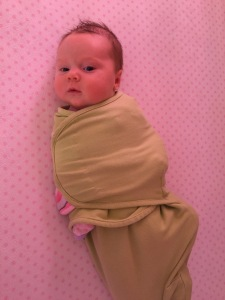 All swaddled up!